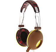 DJ-3685 Stereo On-Ear Headphone with Flower Pattern