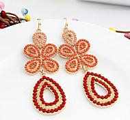 Red Butterfly Drop Earrings