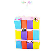 Colorful 12-Compartment Multicoloured Nonwovens Storage Hanging Bag