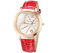 Women's Heart Pattern Dial Pu Band Quartz Analog Wrist Watch (Assorted Colors) Cool Watches Unique Watches