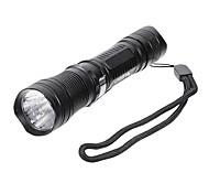 Lampe de poche à LED LT-C118606 3-Mode Cree XP-E Q5 avec l'agrafe (550LM, 1x18650, Noir)
