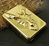 Personalized Flower Pattern Engraved USB Electronic Lighter