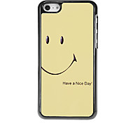 Smiling Face Pattern Aluminous Hard Case for iPhone 5C