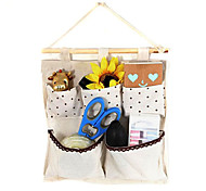 Creative Beige Flax Dot Pattern 5-Compartment Hanging Bags