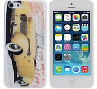 Yellow sports car Painting Pattern Hard PC Case for IPhone5C