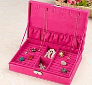 Velvet Necklace Earring Ring Jewellery Set Box