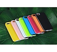 For iPhone 5 Case Shockproof Case Back Cover Case Solid Color Soft TPU iPhone SE/5s/5