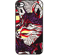 Colorful Wolf Pattern Aluminous Hard Case for iPhone 4/4S