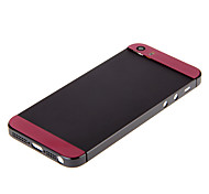 Gray Hard Metal Alloy Back Battery Housing with Pink Glass For iPhone 5s