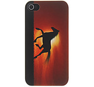 Horse Running in the Sunset Pattern Matte Designed PC Hard Case for iPhone 4/4S