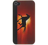 Pferdebetrieb in der Sunset Muster Matte Designed PC Hard Case für iPhone 4/4S