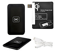 Black Wireless Power Charger Pad + USB Cable + Receiver Paster(Black) for Samsung Galaxy Note2 N7100