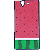 Water Melon Frosted Surface Hard Case for Sony L36h