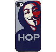 Hop-Mann-Muster Tonerde Hard Case für iPhone 4/4S