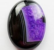 Фиолетовый Druzy Geode Агат Овальный Кабина Кабошон