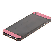 Black Hard Plastic Back Battery Housing with Pink Glass For iPhone 5s