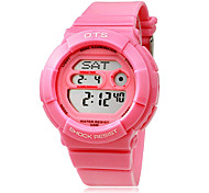 Women's Multi-Functional Digital Dial Rubber Band Wrist Watch (Assorted Colors)