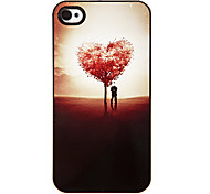 Baum der Liebe Shaped Pattern Tonerde Hard Case für iPhone 4/4S
