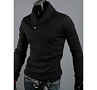Men's Solid Slim Fit Pullover