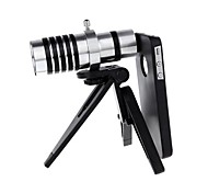 12X Magnification Mobile Phone Telescope Telephoto Optical Camera Lens with Tripod  Case for iPhone 4/4S
