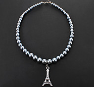 Stylish Eiffel Tower Pendant Necklaces for Pets Dogs