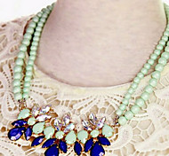 schönen grünen Imitation Perle mit Gold-Legierung Drehmoment (1 PC)