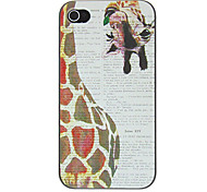 Vintage Animal Pattern PC Hard Case for iPhone 4/4S