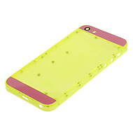 Yellow Hard Plastic Back Battery Housing with Pink Glass For iPhone 5s