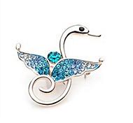 -Corea del estilo de don logo cisne broche de la aleación de novia (1 pc) (rosa, azul, blanco)