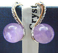 S-shaped earrings jewelry natural amethyst