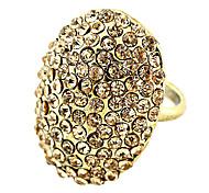 Full Crystal Golden Adjustable Ring