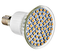 E14 4W 60 SMD 3528 300 LM Natural White LED Spotlight AC 220-240 V