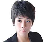 Man Short Straight Synthetic Side Bang Wigs 3 Colors Available