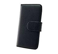 Всего тела PU кожаный бумажник чехол с владельца карты для IPhone 5с