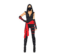 Cool Ninja Black Polyester Women's Halloween Costume