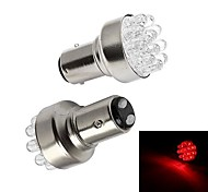 Merdia 1157 1W 72LM 12SMD LED Red Light Car Brake Light /Backup Light (Pair/12V)
