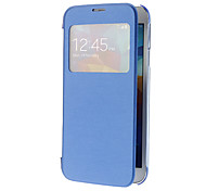 Skylight Pattern PU Leather Face and Transparent Back Cover Full Body Case for Samsung Galaxy S5 I9600