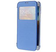 Skylight-Muster PU-Leder Gesichts-und Transparent Cover-Rückseite Full Body Tasche für Samsung Galaxy i9600 S5