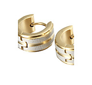 presente para namorado polimento clássico brincos de aço de titânio (1 par)
