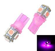 Merdia T10 5 x 5050 Light Pink Light Reading / Instrumento ligero / Liquidación Lámpara (par / 12 V)