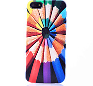 Pastel Pencil Pattern ABS Back Case for iPhone 5/5S