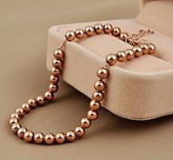 Fashion 22cm Women's Rose Gold 316L Stainless Steel Strand Bracelet