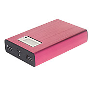 11200mAh Metal Polymeride LCD Screen Smart Power Bank for Cell Phones and Pads (Rose)