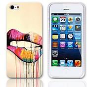 Lippendesign Hard Case mit 3-Pack-Display-Schutzfolien für das iPhone 5/5S