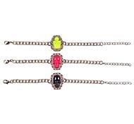 (1 Pc)Sweet 5cm Women's Golden Alloy Chain  Link Bracelet(Black,Yellow,Rose)