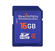 Sharpen 16GB Class 6 SD/SDHC/SDXCMax Read Speed6 (MB/S)Max Write Speed6 (MB/S)