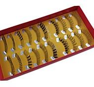 10 pares Pro mão de alta qualidade Feito Synthetic Fiber Mix cabelo estilo diferente Cílios Postiços