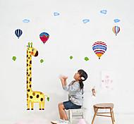 1PCS parede colorida Girafa Etiqueta para Crianças de medição Altura