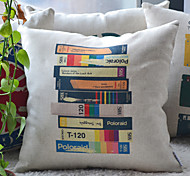 Artistic Staggered Overlapp Books Decorative Pillow Cover