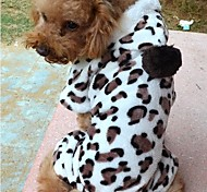 Leopard Print Warm Pet Clothes